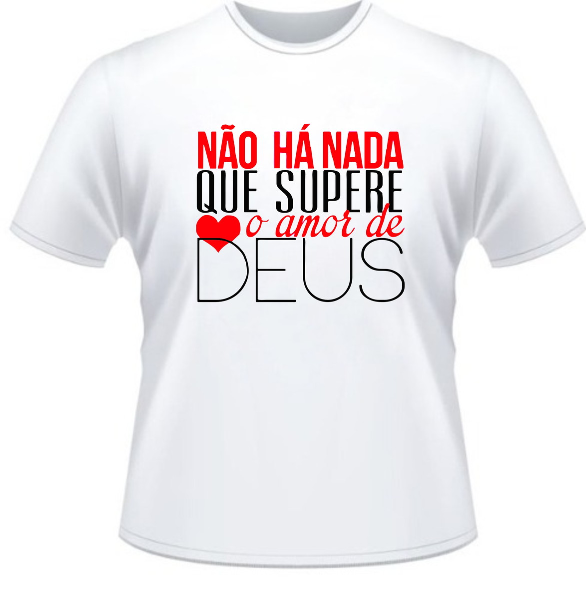 Camiseta Evangélica Amor Maior Por Deus no Elo7  b2a446ddcaeb4