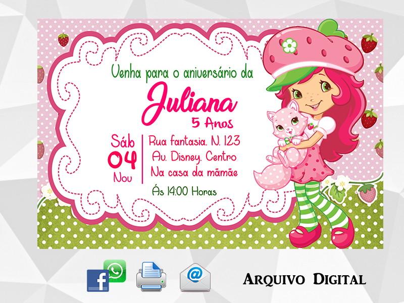 Convite Moranguinho Digital No Elo7 Ideias Em Artes Digital
