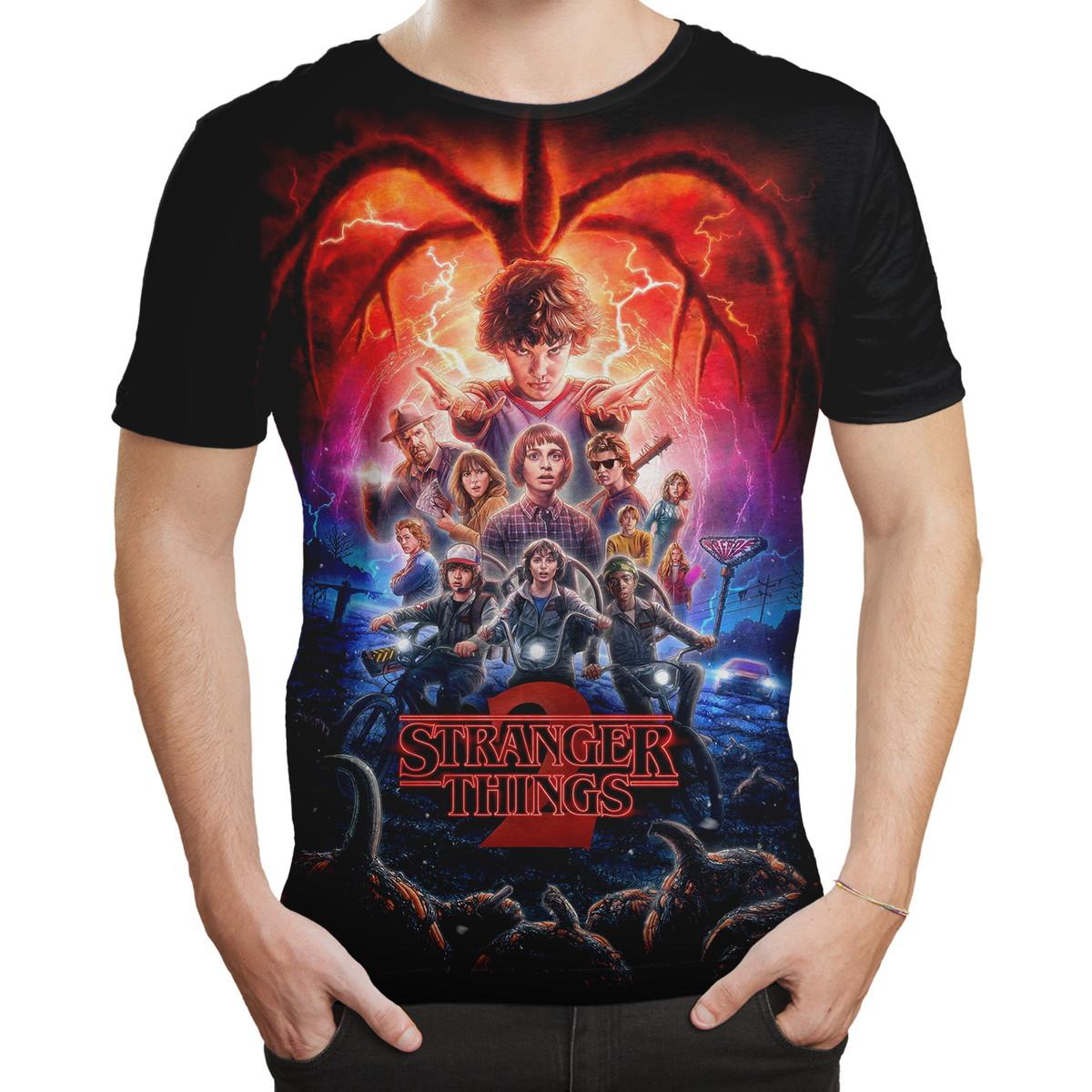 b617ea5c9e562 Camiseta Masculina série Stranger Things MD03 no Elo7 | Simbiose TV ...