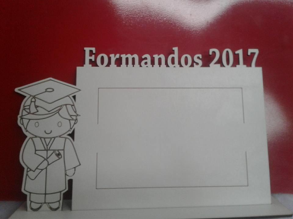 Zoom · Porta Retrato Formandos 2017 (mdf Branco)