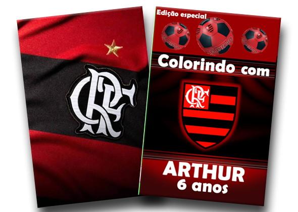 Revista Colorir Flamengo 14x10