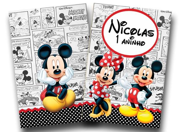 Revista Colorir Mickey Minnie 14x10 No Elo7 Tudo De Festa Galvao