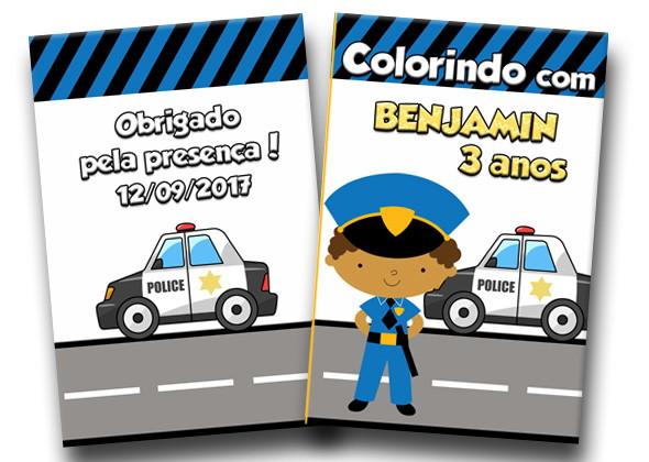 Revista Para Colorir Policial 14x10 No Elo7 Tudo De Festa Galvao