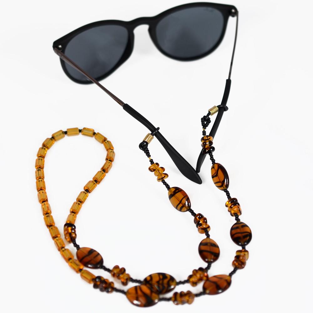 Cordinha de pedrarias para óculos Marrom no Elo7   Bead Shop (ABCDE0) 676f5a0005