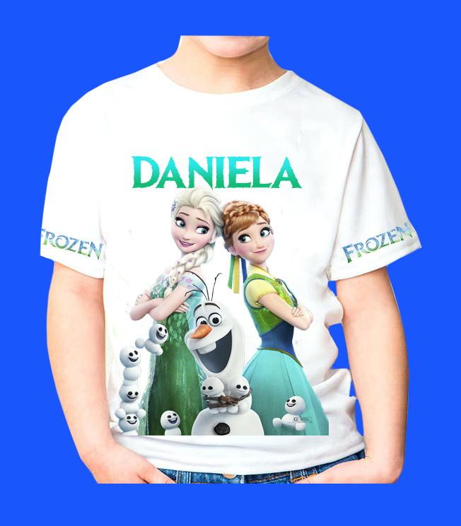 7747756c72 Camiseta Personalizada frozen no Elo7