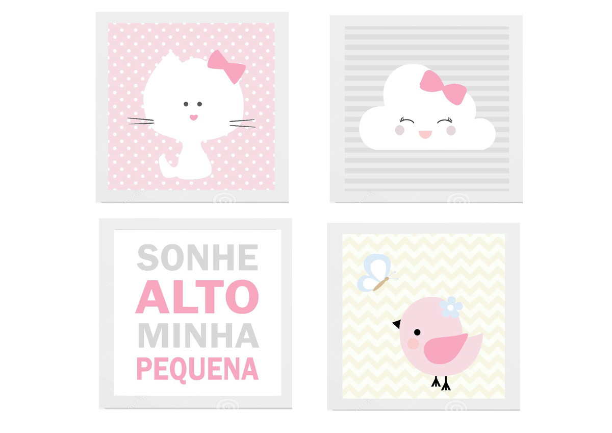 Kit Quadro Decoracao Infantil Nuvem Sonhe Alto No Elo7 Amor