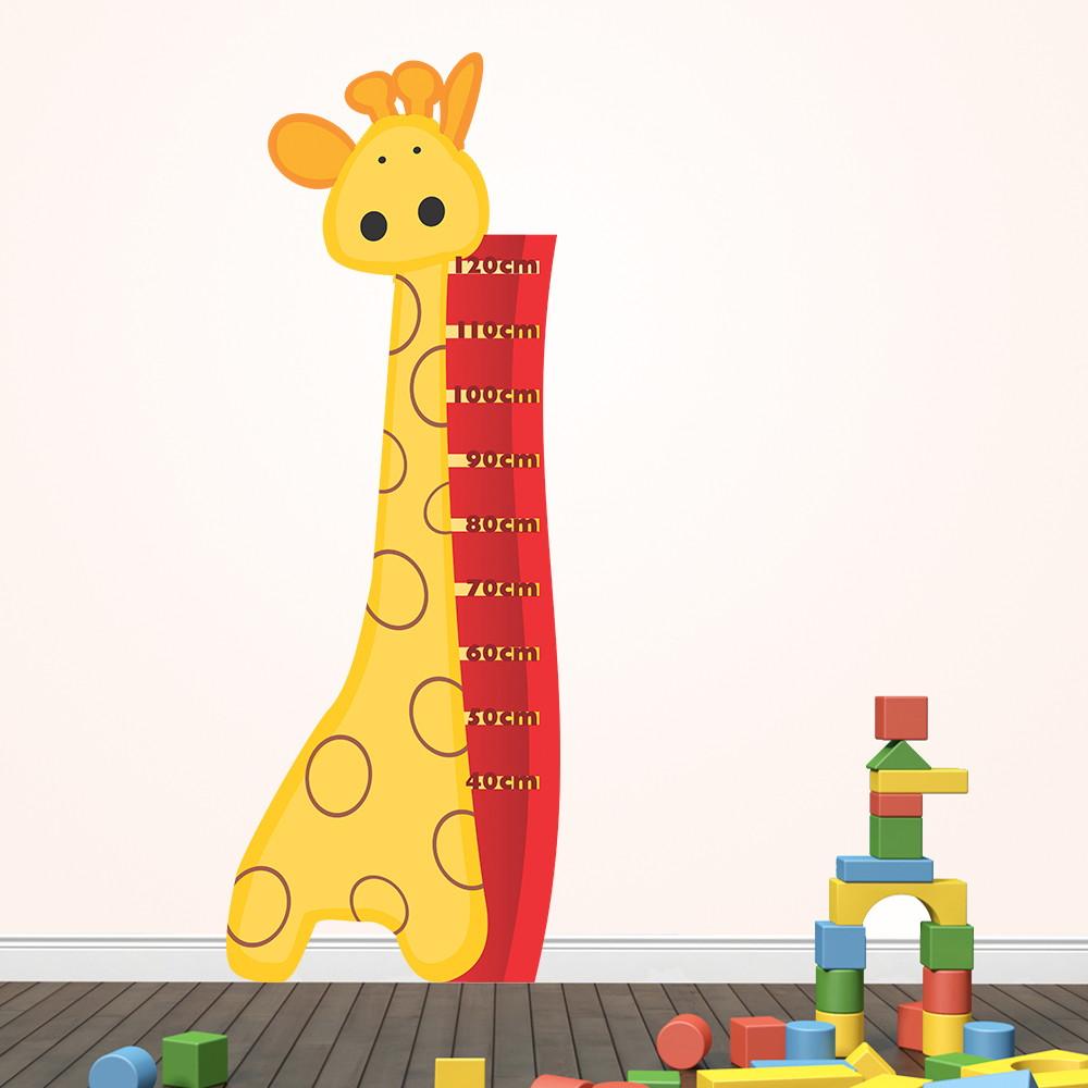 51124fc89 Adesivo Régua Medidora Infantil Girafinha no Elo7