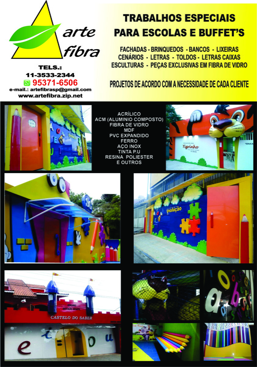 Famosos Fachada de escola de educação infantil no Elo7 | Arte Fibra  DX27