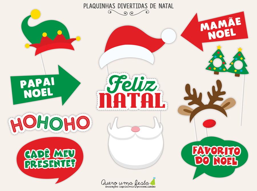 Plaquinhas Divertidas De Natal Para Imprimir No Elo7 Quero Uma