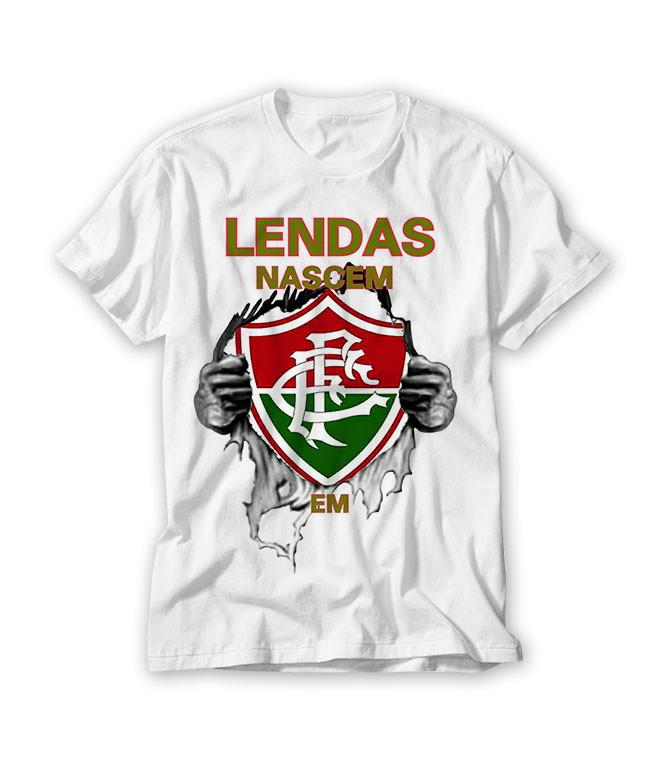 Camiseta As Lendas Nascem Fluminense no Elo7  f8455bd20a456