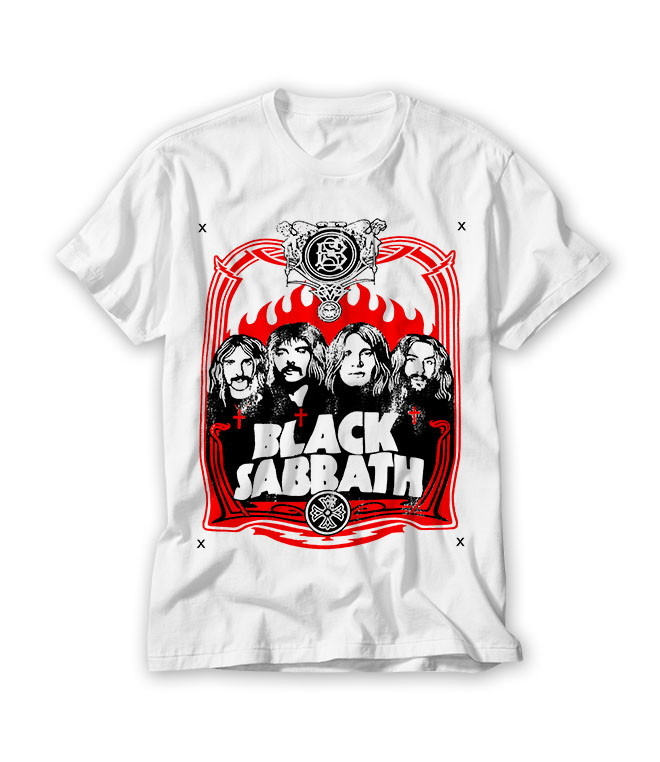 0fecab962d Camiseta Banda de Rock Black Sabbath no Elo7