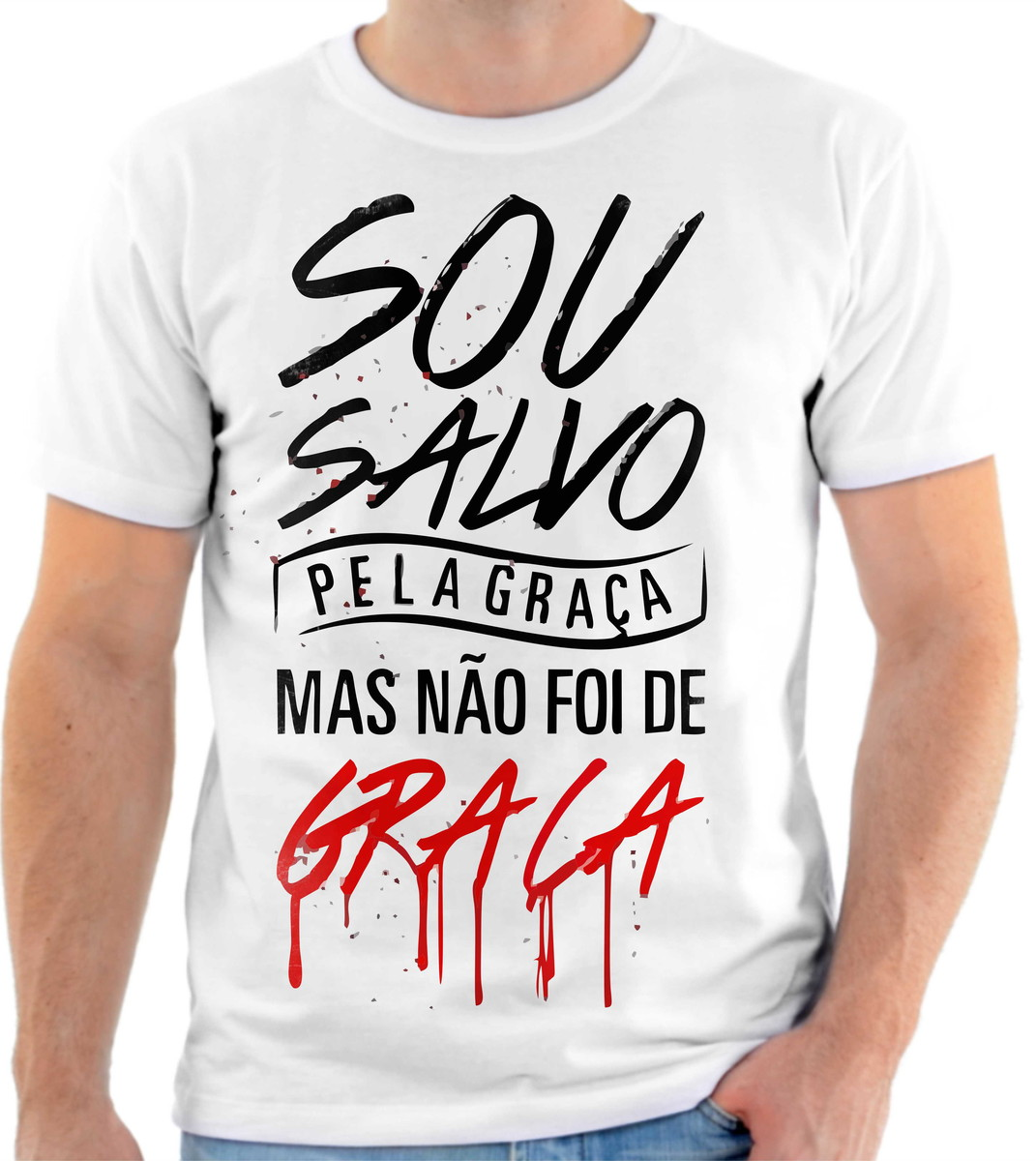 680975312 Camiseta Camisa Personalizada Jesus foi por amor Full HD 1 no Elo7 ...