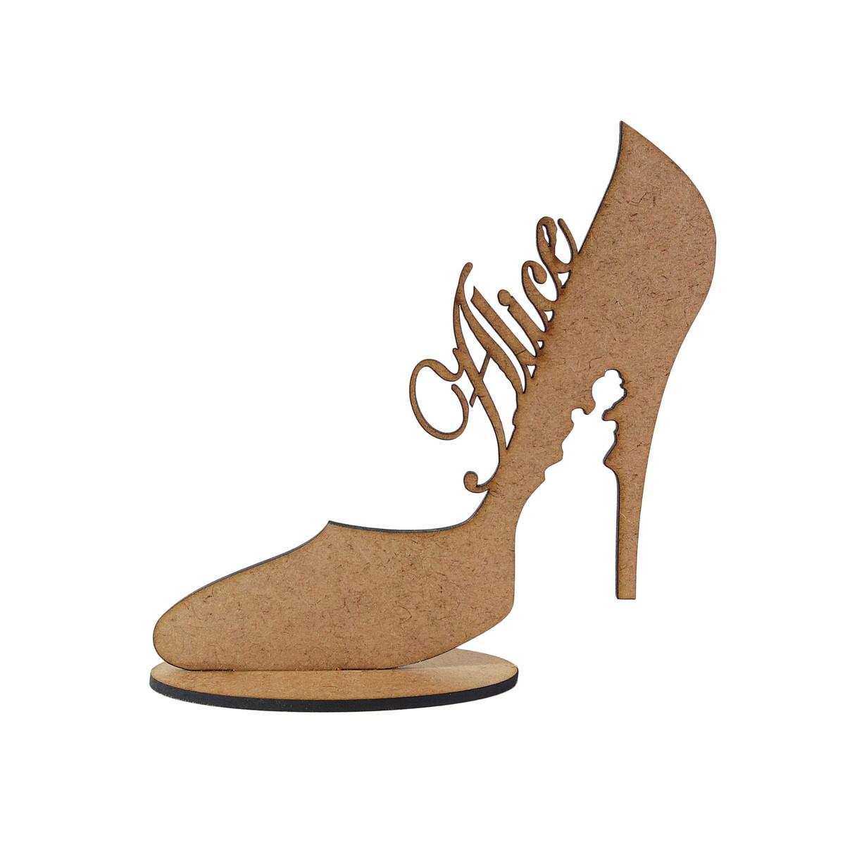 e1d95776d9 Lembrancinha sapato da Cinderela MDF - Salto - Personalizado no Elo7 ...