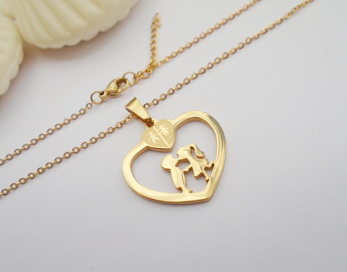44634c7b816 Corrente de AÇO inox 360L CORAÇÃO LOVE Dourado no Elo7