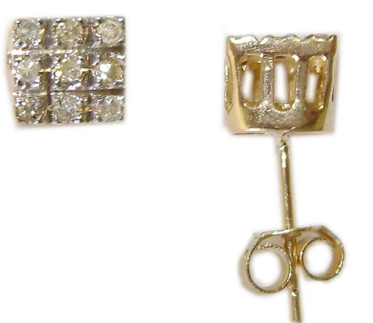 30cd0b3ee7e30 Par de brincos de ouro 18 quilates Chuveiro Diamantes BR 24 no Elo7 ...