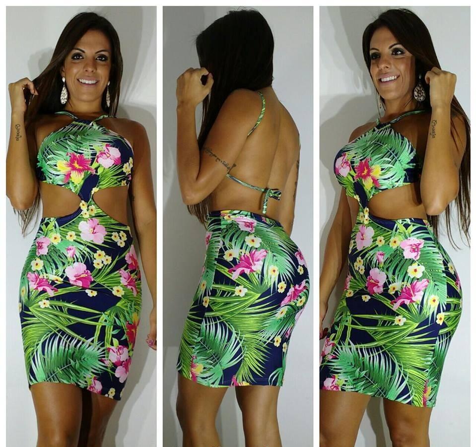 Vestido florido no Elo7  7ceef6ef239