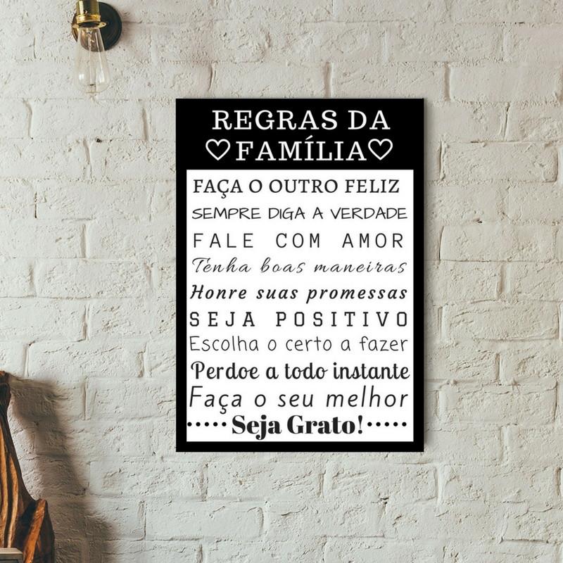 Poster Regras Da Familia Para Imprimir No Elo7 The Little Things