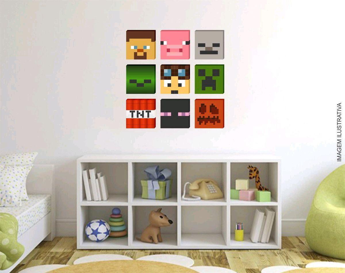 11 Quadros Minecraft 11x11cm