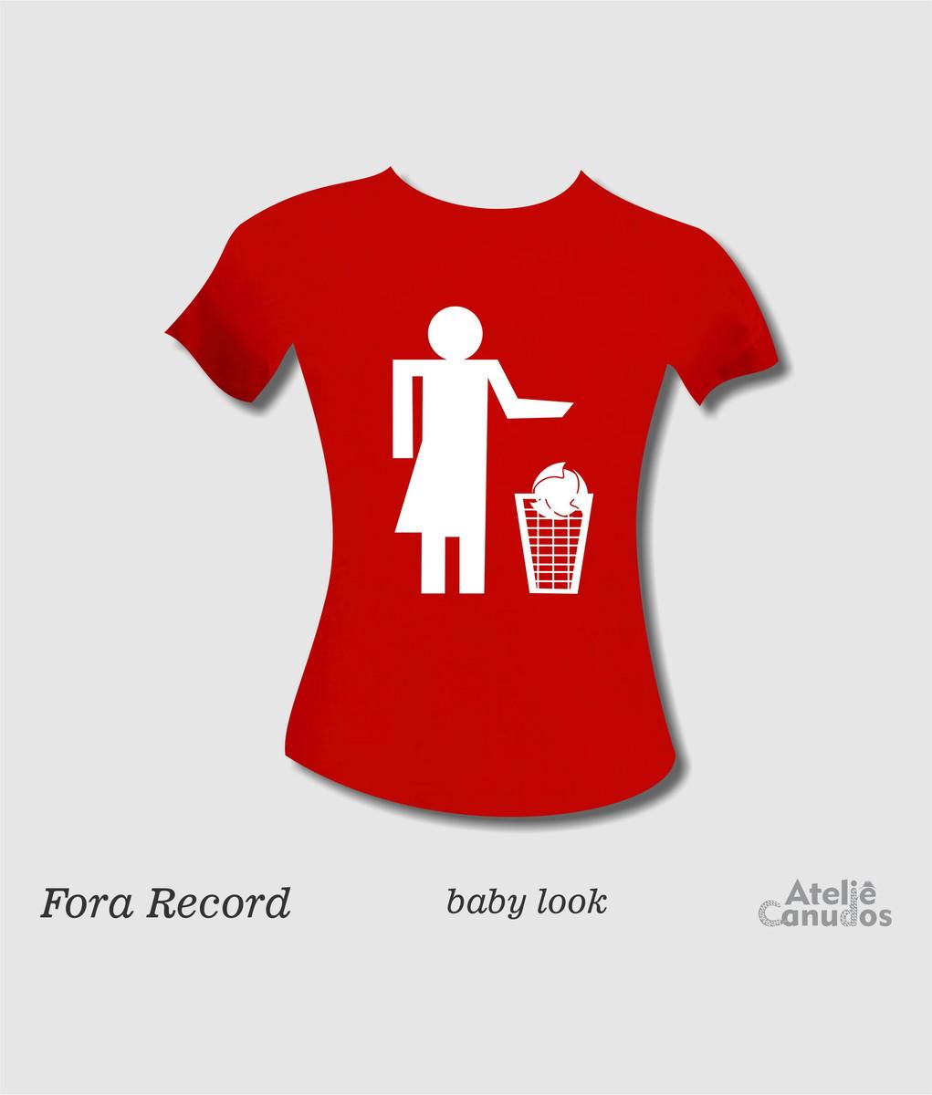 Camisa Fora Record - vermelha estampa branca no Elo7  6afefebe9775c
