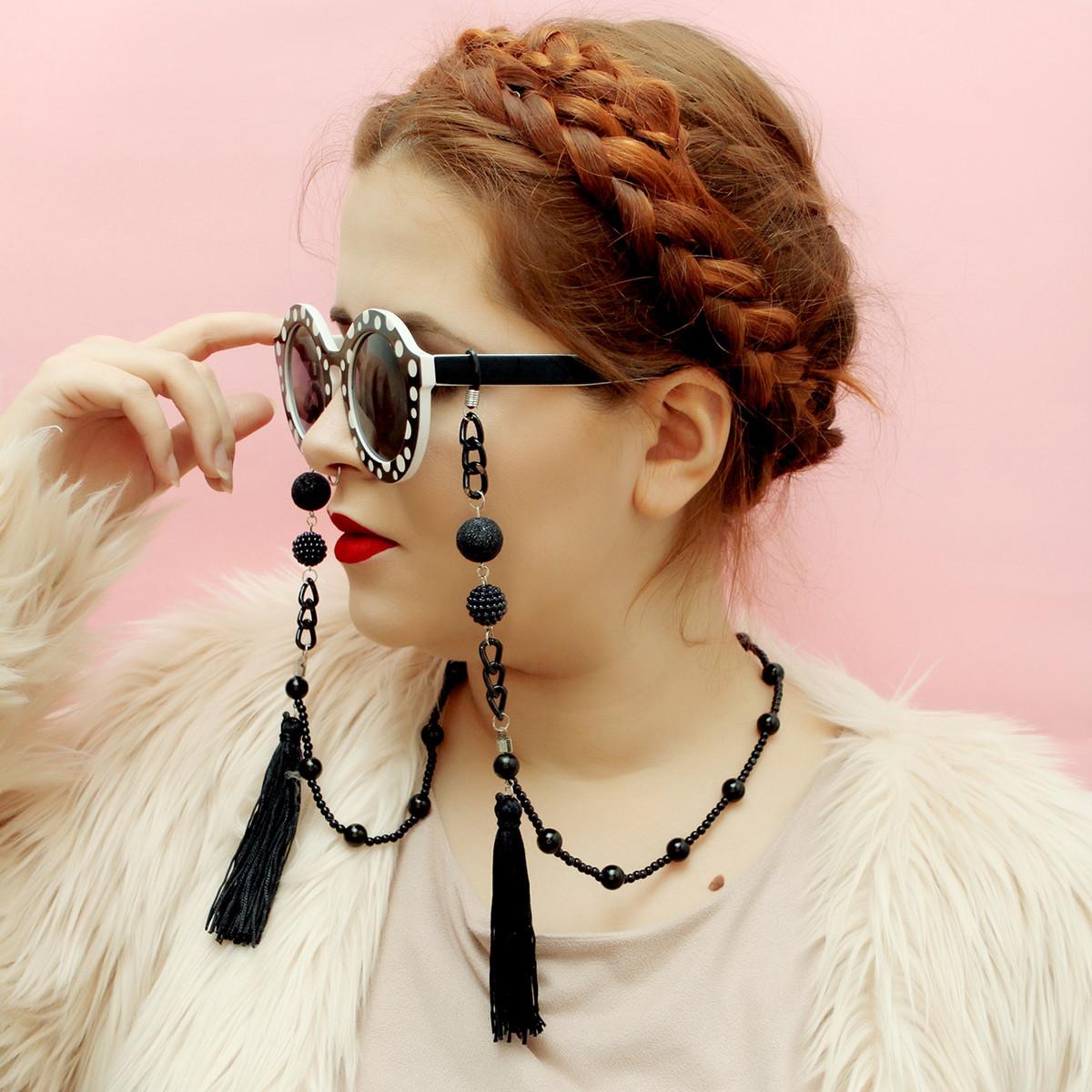 e240281b973e3 Corrente de óculos Black Mamba (cordinha de óculos) no Elo7   É tipo ...
