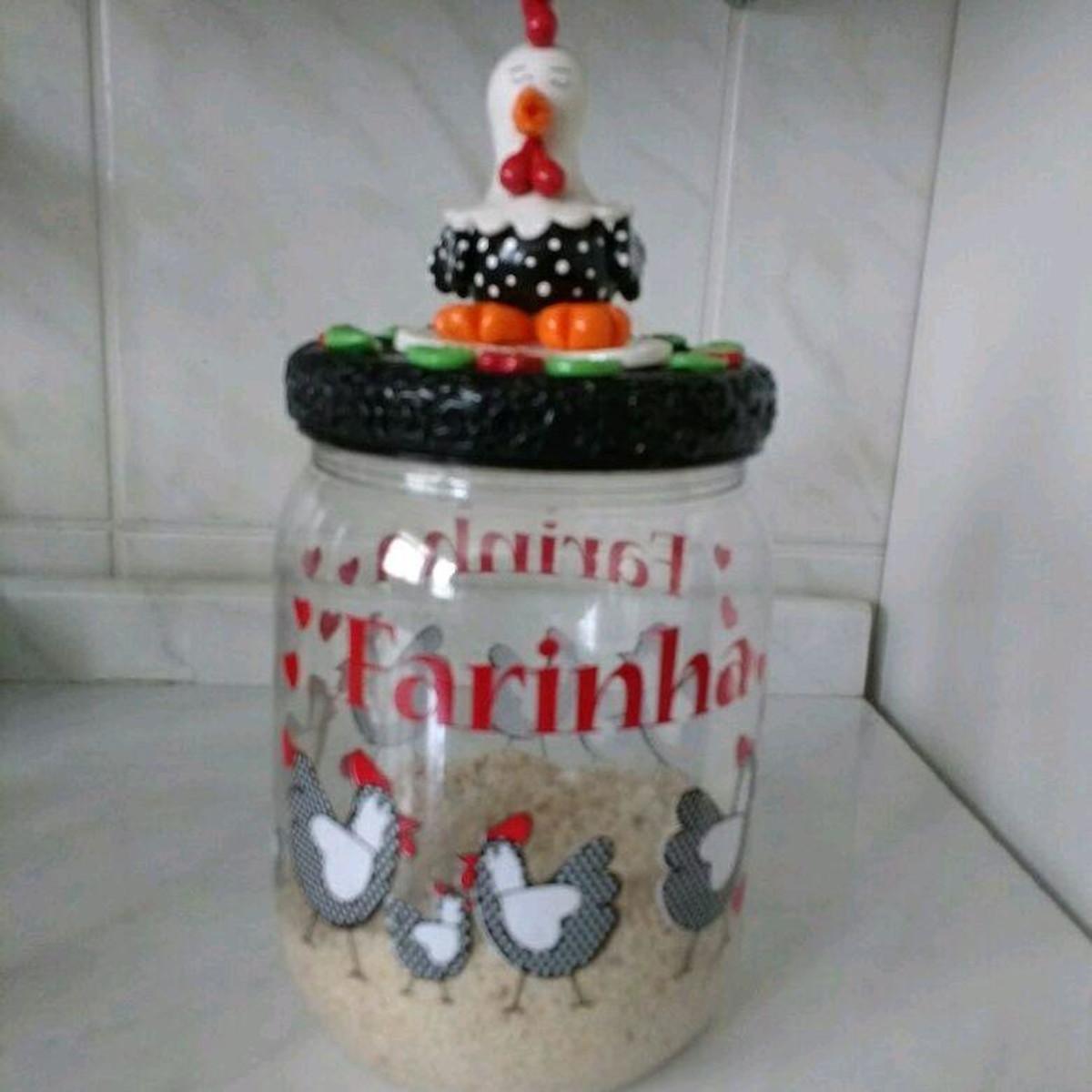 Pote Decorativo Para Cozinha Pote De Mell Artesanato Elo7 ~ Potes Decorativos Para Cozinha