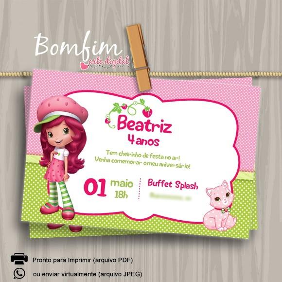 Convite Digital Moranguinho No Elo7 Bomfim Arte Digital A70f21