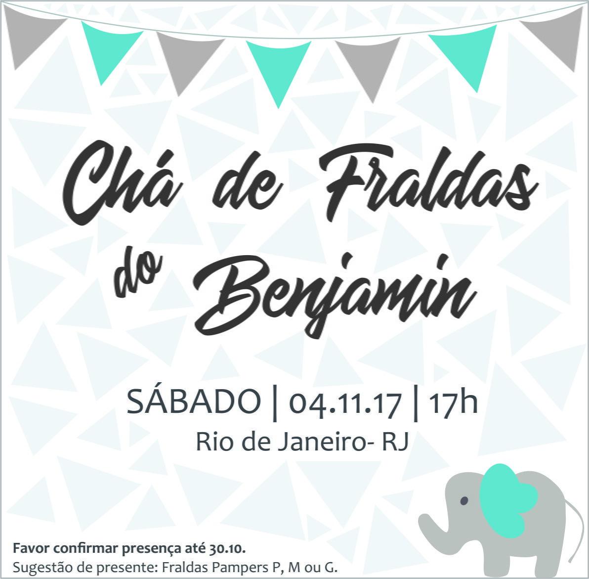 Convite Virtual Chá De Fraldas No Elo7 Amei Criações Ad2318