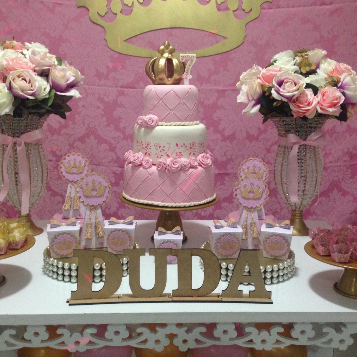 Decoraç u00e3o Provençal Realeza Princesa no Elo7 JF Festas Personalizadas (AD305A) -> Decoração De Festa Infantil Realeza