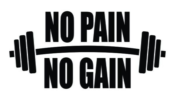 Adesivo No Pain No Gain Musculacao Bodybuilder 2 Unidades No