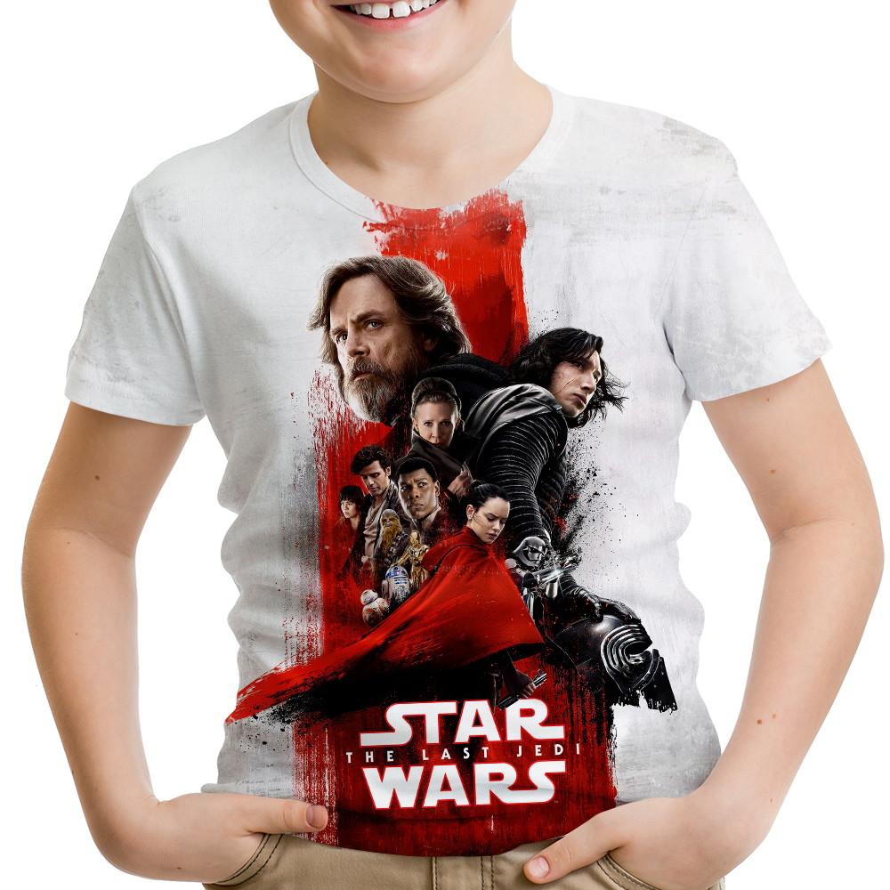 4f6216b8d Camiseta Infantil Star Wars VIII 8 MD04 no Elo7