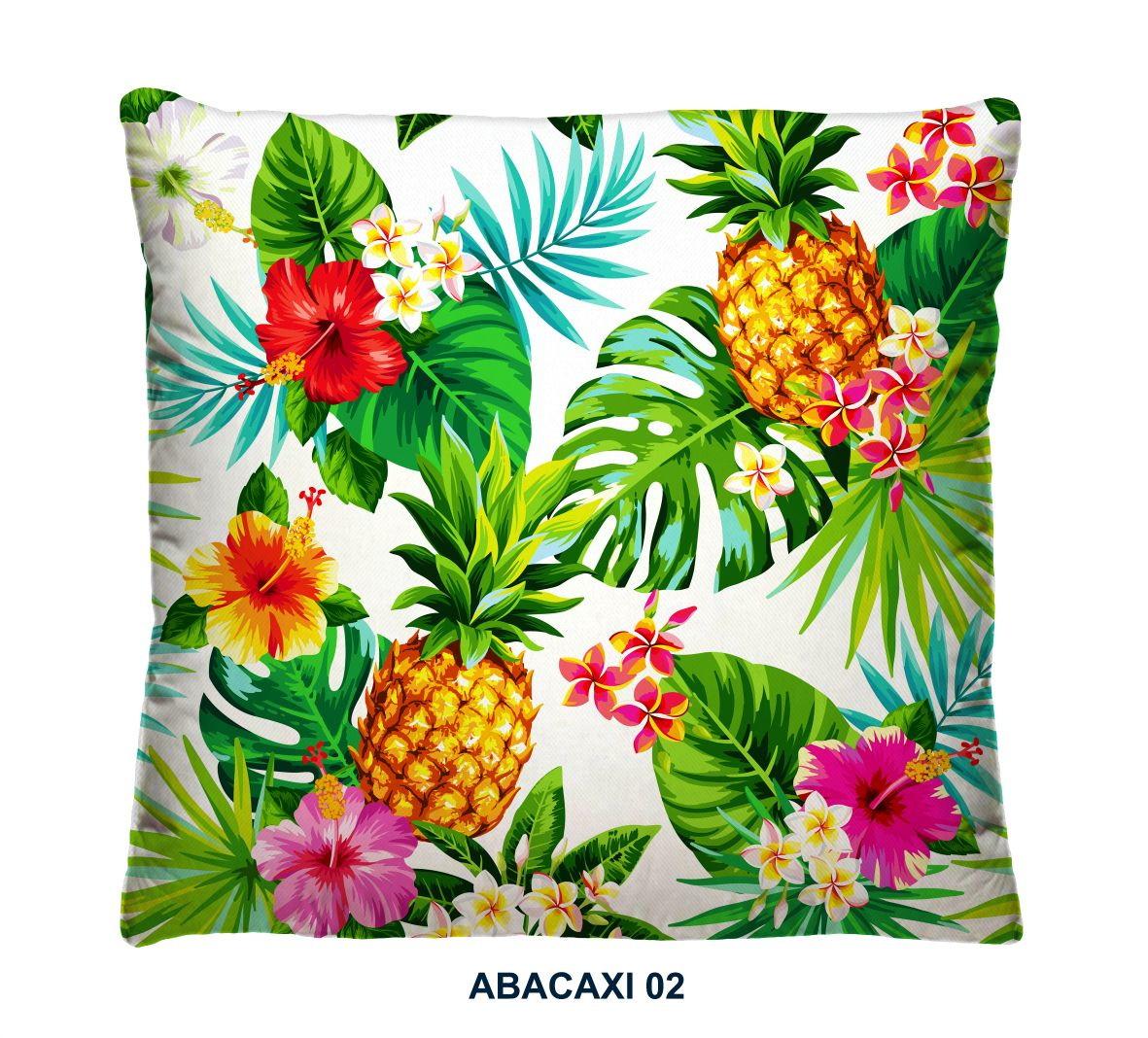 39138c488a6bec Capa de Almofada Abacaxi Tropical