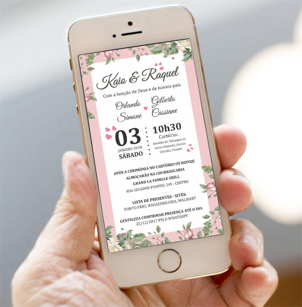 Convite Digital Casamento Civil No Elo7 Walpi Midia Adc2be