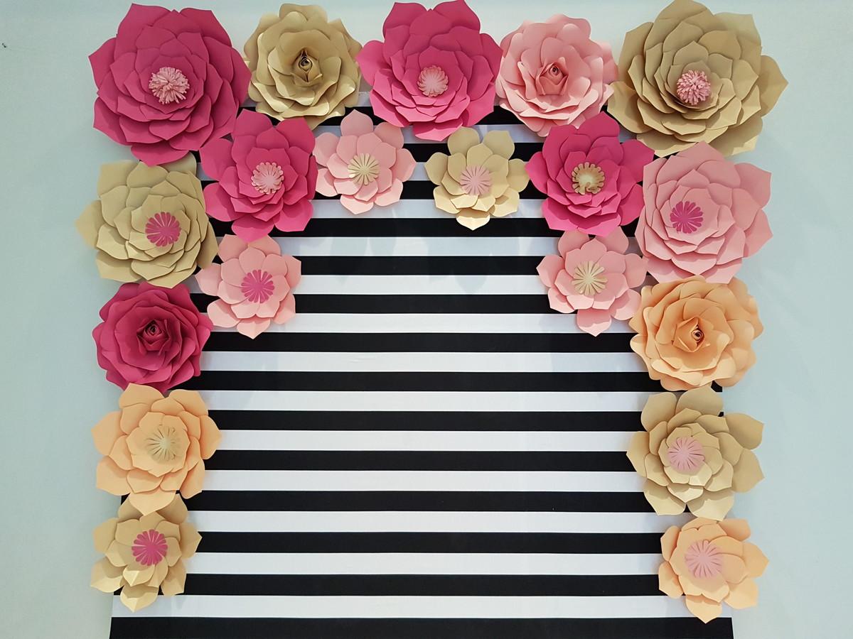 Painel de flores gigantes de papel no elo7 ana for Mural de fotos en cartulina