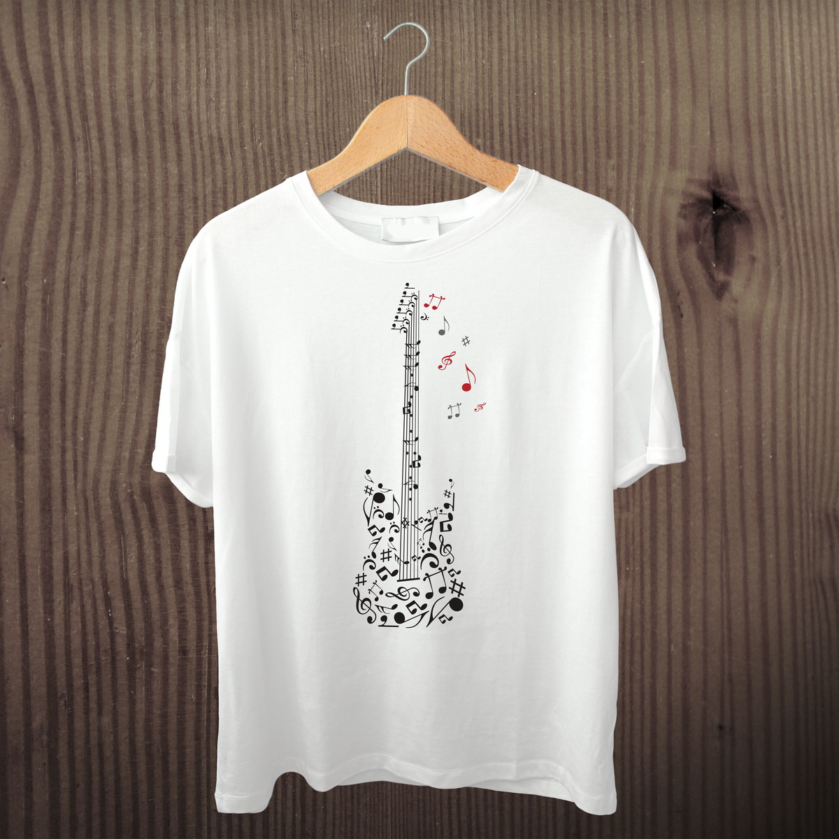 f2debd6cf5 Camiseta Personalizada Guitarra Notas Musicais no Elo7 ...