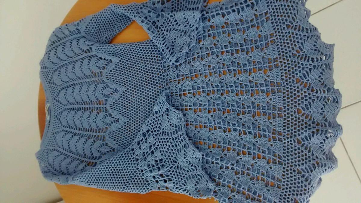 fe87ccb35e Vestido Crochê Manga Flare Vintage no Elo7