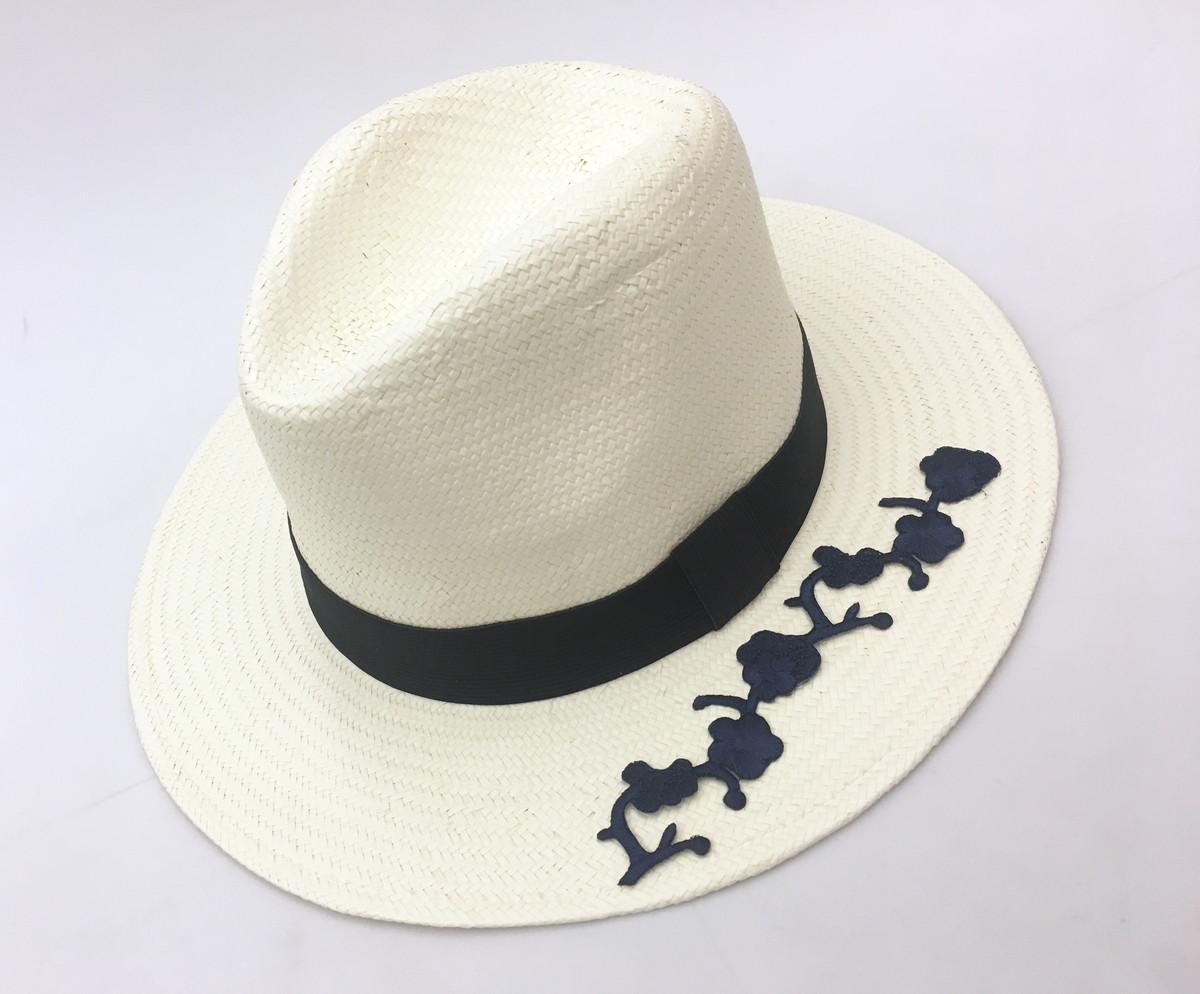 a04045a4c1f97 Chapéu Panamá com aplicação no Elo7