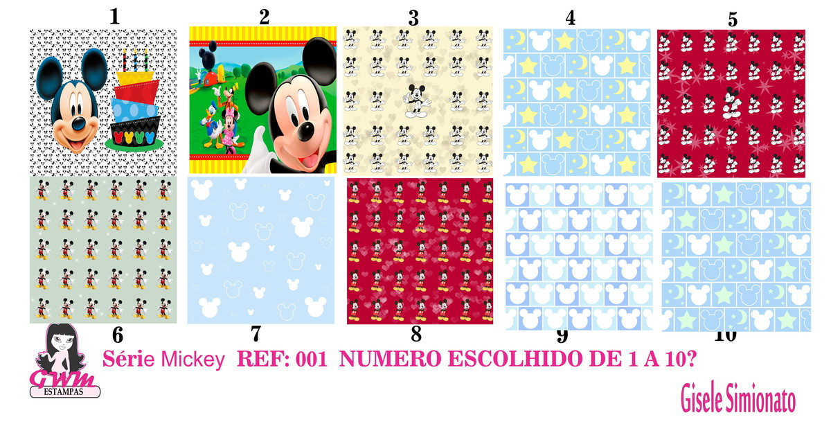 ed017a1ad Estampa para Costura Criativa MINNIE MICKEY no Elo7