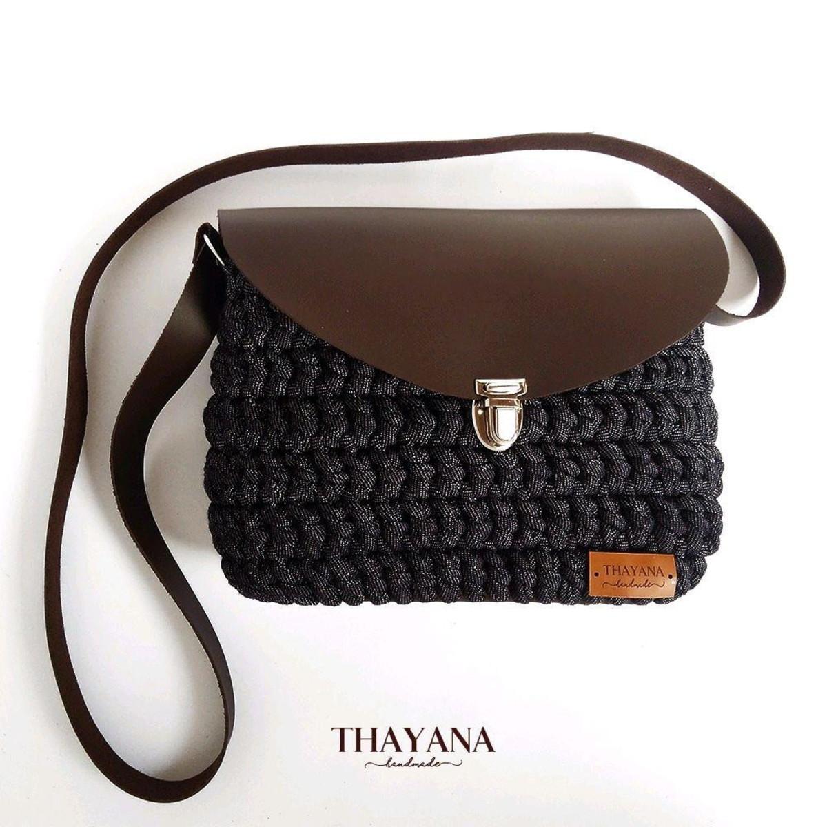 0fa4441f8 Bolsa de lado - jeans e couro no Elo7 | Thayana handmade (AE4696)