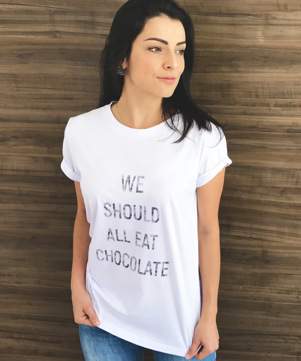 ff9993d879 Blusa Camiseta Feminina Estilosa Organica Branca no Elo7