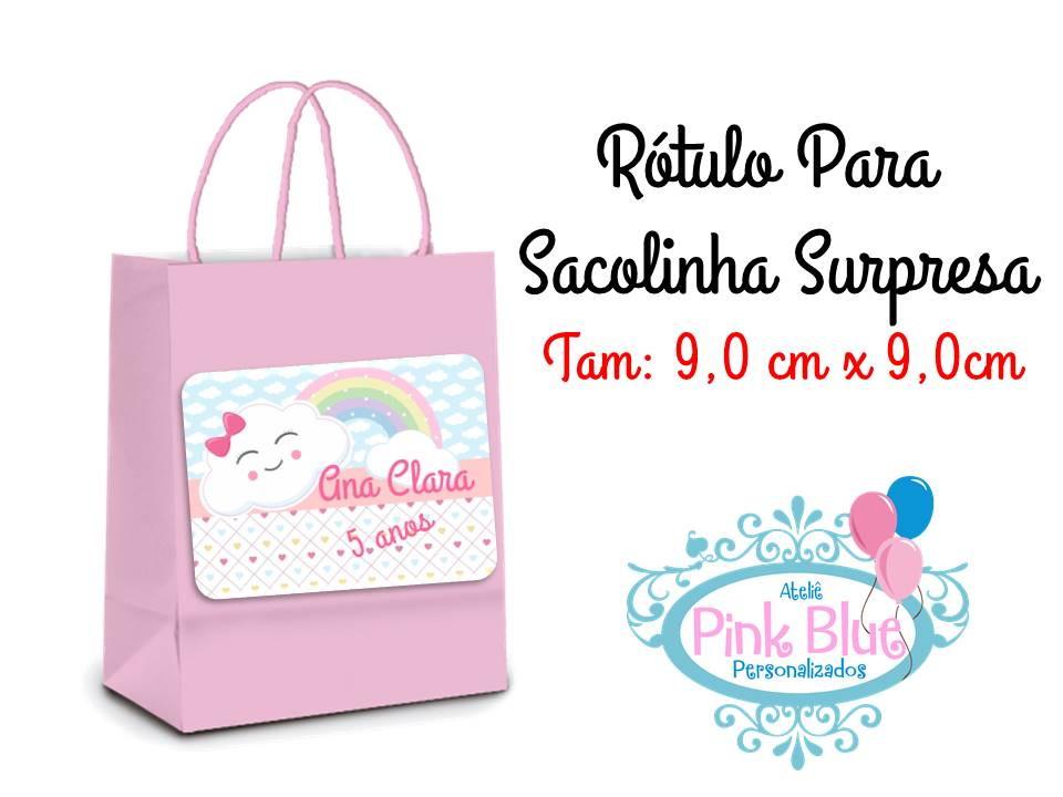 Rotulo Sacolinha Chuva De Amor No Elo7 Atelie Pink E Blue Ae5c57