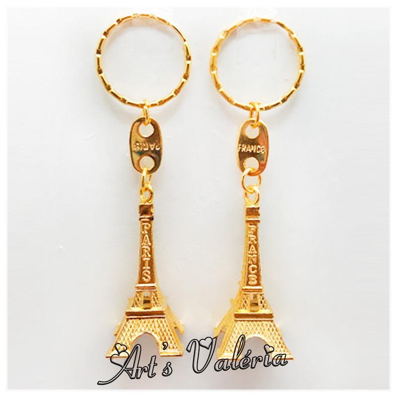 Chaveiro Torre Eiffel de Metal Dourada no Elo7   Arts Valeria ... ab1e9130e2