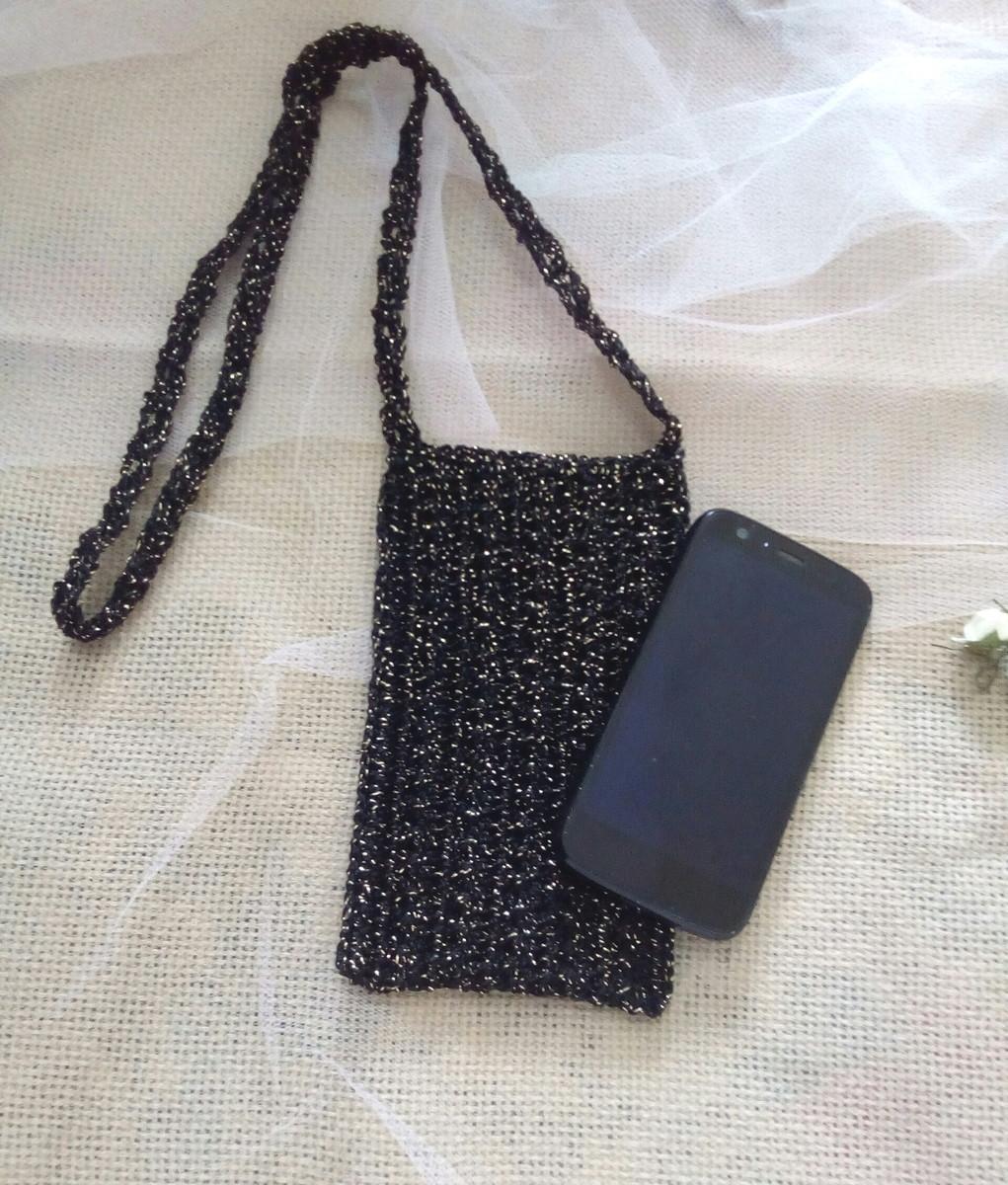f24c00881 Bolsa para celular alça transversal em crochê no Elo7   Crochê e ...