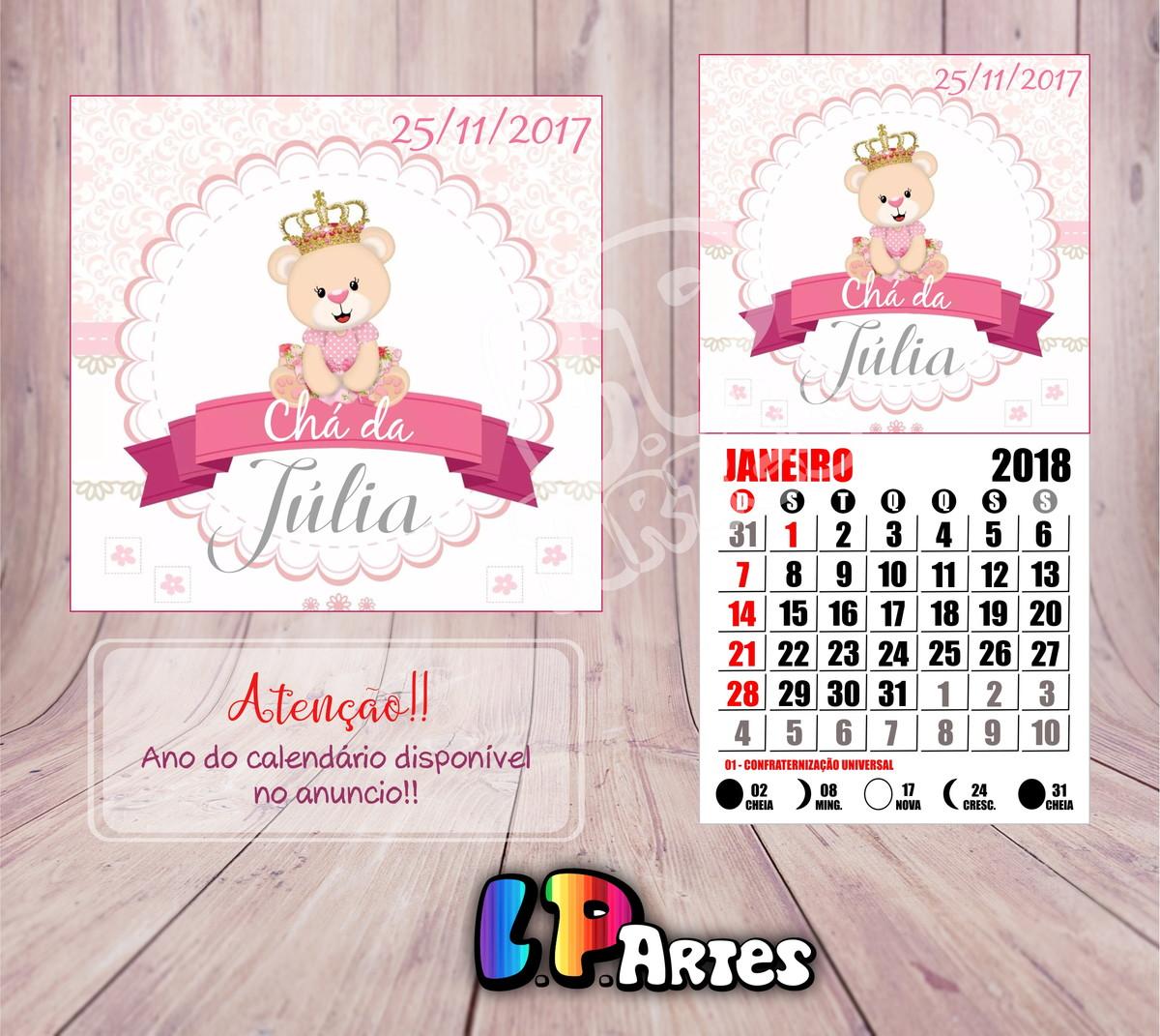 Calendario Rosa 2020.Mini Calendario Com Ima Ursinha Rosa 2020