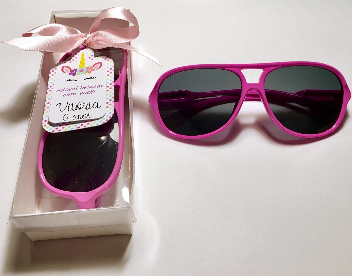 c2b67fa60 Lembrança óculos escuros infantil festa Unicornio no Elo7   rakiroze ...