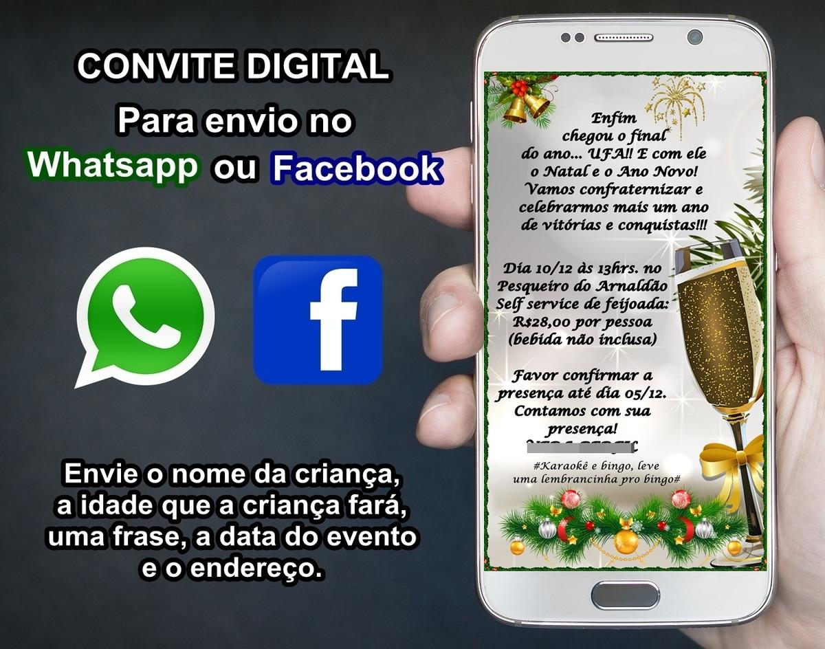 Convite Digital P Festa De Fim De Ano Churrasco Amigo Oculto No Elo7