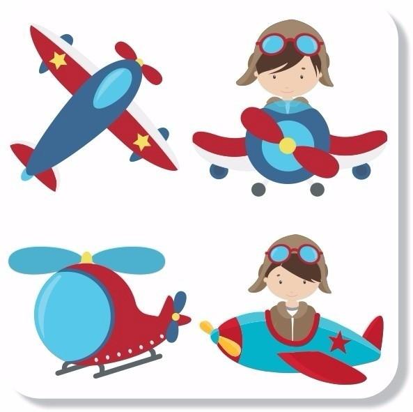Adesivos Parede Infantil Aviador Aviao Helicoptero Nuvens No Elo7