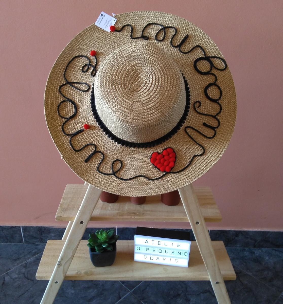 af4285455fcd0 Chapéu de Palha Personalizado no Elo7