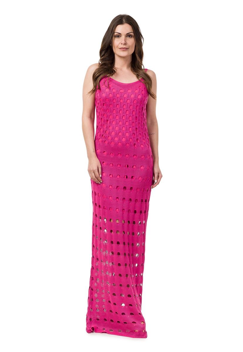 a803a0144399 Vestido Longo de Tricot Decote nas Costas Pink 04818 no Elo7 | Loja ...