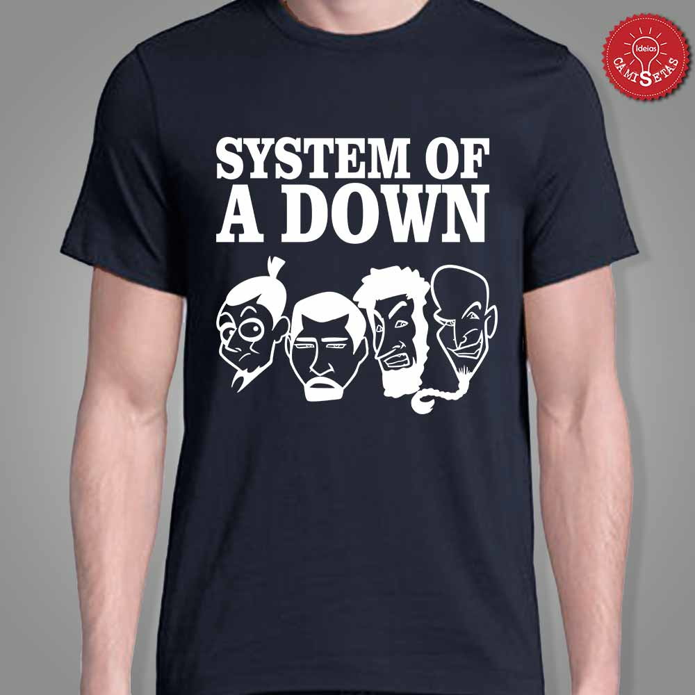 Camiseta - System Of A Down no Elo7  9033d23a31f96