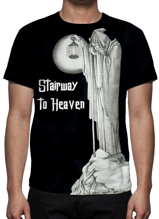 7ed5c7e75 Camiseta Led Zeppelin - Stairway to Heaven - Estampa Total no Elo7 ...